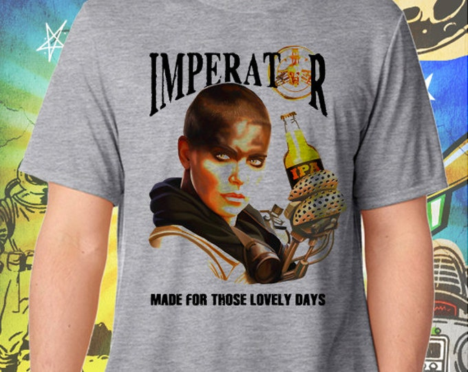 Mad Max Fury Road / Imperator Furiosa IPA / Men's Gray Performance T-Shirt