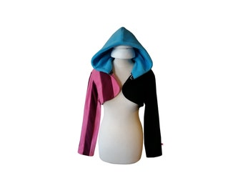 Cute wicked coloured hooded shrug