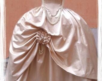 marie antoinette costumes rococò1700. large robe de court.