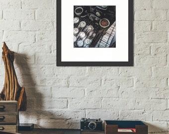 Framed print ~ Underwood Typewriter ~ vintage antique museum quality giclée archival Hahnemühle fine art photo print Artsfish Studio