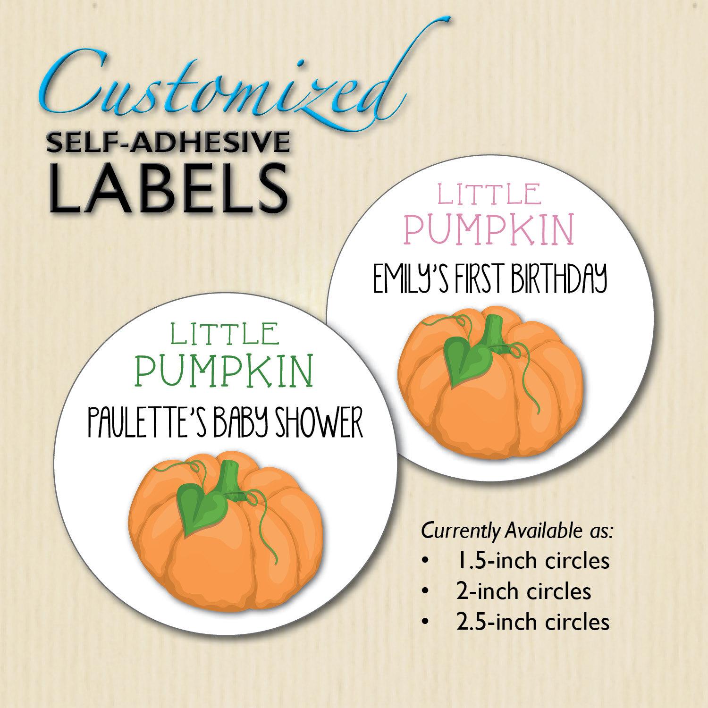 Baby Shower Favors Little Pumpkin ~ Little pumpkin baby shower stickers st birthday favor candy