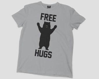 Free Hugs Bear Shirt Funny tshirt free hugs shirt bear shirt bear tshirt bear hug funny shirts forest shirt animal shirt bear tshirt hug