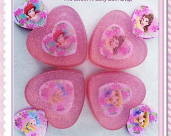 Disney Inspired Sparkling Princess Soap With Surprise Inside