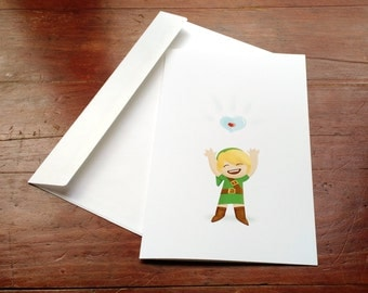 Legend of Zelda Heart Container Card // Anniversary Card // I Love You Card // You Fill my Heart Container // Heart Card