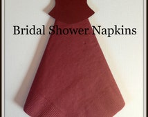 Bridal Shower Wine Color with Pearl Bridal Shower Napkins