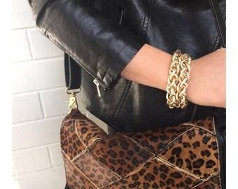 chunky gold bracelet- chain link bracelet- multichain bracelet- layered bracelet- multi layer bracelet- gold bracelet- gold bracelet