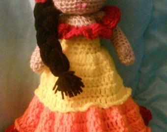 Crochet Senorita Amigurumi Doll Pattern Only
