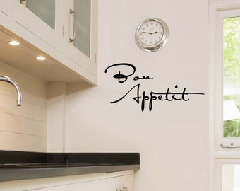 """Wall Vinyl Decal """"Bon Appetit"""" writing for your kitchen"""
