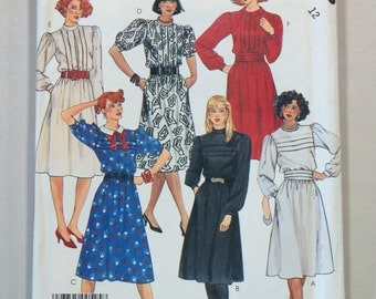 Vintage 1980s McCall 2658 Sewing Pattern / Misses' Dress Sewing Pattern / Size 12
