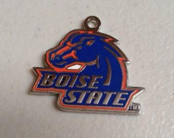 Boise State Broncos Silver NCAA Logo Charm