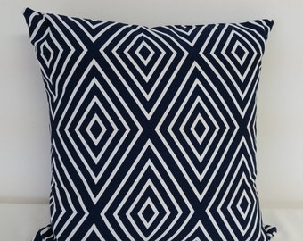 Decorative throw pillow cover, 18x18 inch,  blue white pillow covers, Patriotic pillow, Americana pillows, geometric pillow covers,