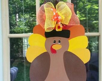 Thanksgiving Wreath | Turkey Wreath | Thanksgiving Door Hanger | Turkey Door Hanger | Fall Door Hanger | Fall Wreath | Turkey Decoration