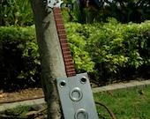 Silver Electric Cigar Box Guitar
