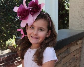 Fuschia Paper Flower Fairy Headband