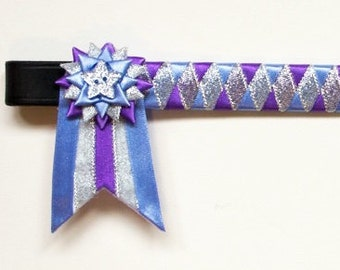 Lavender, amethyst and silver showing browband