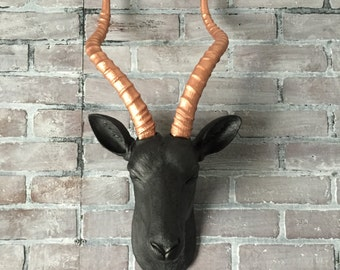 Any Color Large Gazelle Head Wall Mount Faux Taxidermy