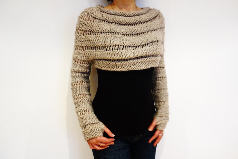 Sleeve Scarf Sweater Wrap pattern by Lake House Knits   Wrap pattern ...