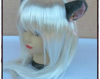 Grey Cat Ear with clip - Neko Cosplay