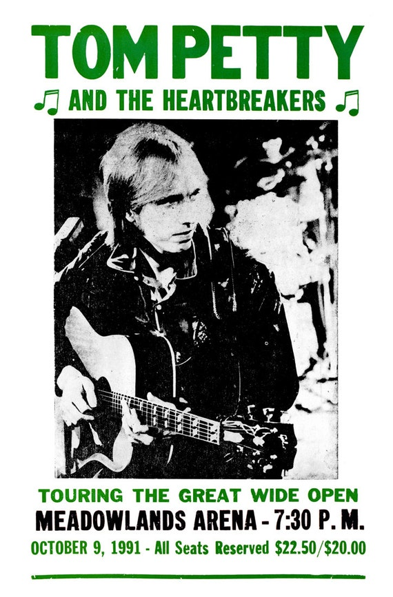 tom petty concert poster touring the great wide open new. Black Bedroom Furniture Sets. Home Design Ideas