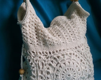 Handmade crochet handbag, crochet purse, shoulder bag, Women handbag.