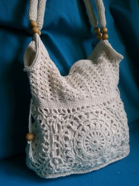Crochet Shoulder Bag : Handmade crochet handbag, crochet purse, shoulder bag, Women handbag.