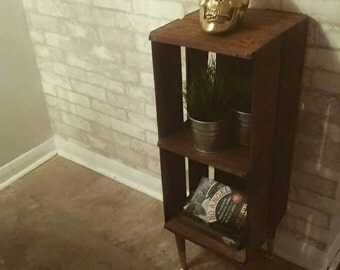 Gorgeous Rustic crate side table