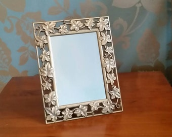 Gold Wrought Iron Frame with Mirror