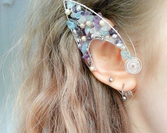 Faery Ears,Mermaid Ear tips, Elven ear cuffs, Faery ear cuffs, Elven ear tips