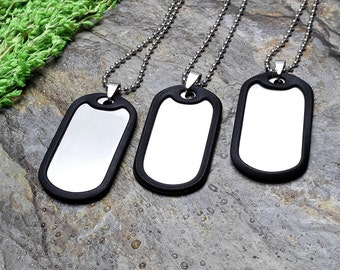 50 Dog tag Kit - Stainless steel Dog Tags Discs Stamping Blanks Dog Tag Blanks Stamping Blanks Silver Tags Blank Dog Tags