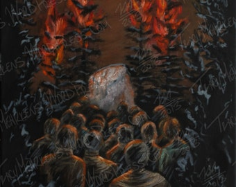 Midnight Congregation 11x14 in. Oil Paint on Canvas, 2015