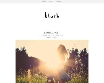 Blush - Responsive One Column Blogger Template - Premade Theme Blog Design - Instant Digital Download