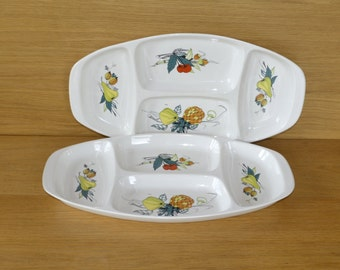 Large Villeroy & Boch Vintage Porcelain Platter - Retro 70s Serving Dish - Fondue or Aperitif tray - Dining and Serving