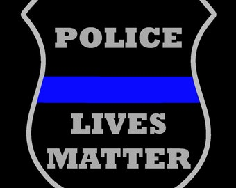 Police Lives Matter Decal - Police Badge - Thin Blue Line Decal - Cop - Law Enforcement Badge Decal