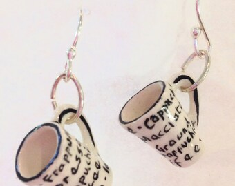 Latte Coffee Mug Earrings