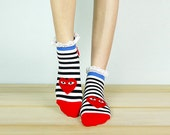 15% OFF - Code: FALL15 - LOVE Lace Socks, Ankle Socks, Socks, Leg Warmer, Low Cut Socks, womens socks, casual socks, sneaker socks