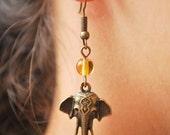 BIG SALE! Elephant earrings! Elephant jewelry. Hippie festival earrings. Stylish Summer Earrings. Lovely elephant earrings. Best seller.