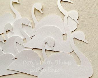 Swan Die Cuts, Shimmer Swan Die Cuts, Swan Confetti, 15 Ct.
