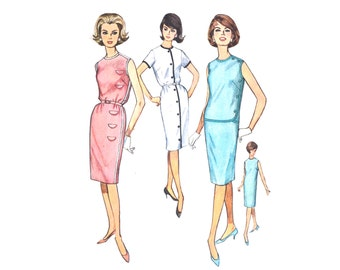 1962 Sewing Pattern Shift Dress Simplicity 4470 Size 16