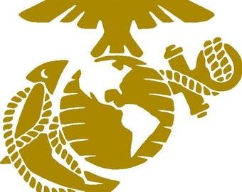 Marines Cornhole Decals (Set of 2)