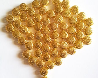Gold Filigree Beads 1 cm pack of 20 beads