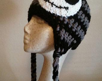 Nightmare before Christmas,  Black and grey crochet hat