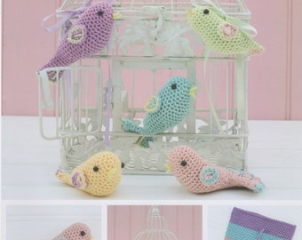 DMC (15269L/2) Birds and Keepsake Pouch Amigurumi Crochet Pattern - designed by Liz Ward