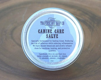 Canine Care Salve 2 oz. Great for hot-spots, raw paws, and problematic skin irritations-dog-puppy-dog salve-dog treatment-dog health-healing
