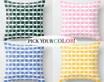 Plaid Toss Pillow, Throw Pillow, Decorative Pillow, Sofa Pillow, Sofa Cushion, Pillow Case, Pillow Cover, Checkered Pillow, Pattern Pillow