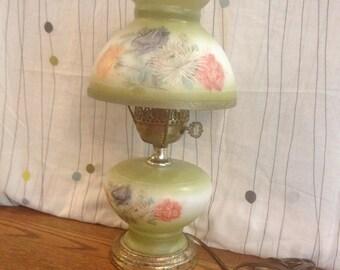 Vintage Floral Gas Globe Lamp