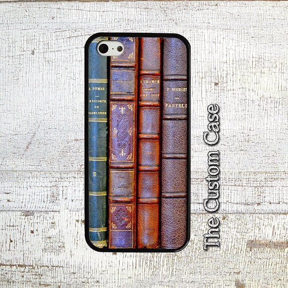 Old Book Phone Case : Antique books phone case stacked old