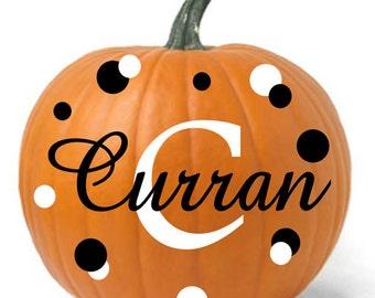 Personalized Pumpkin Decals