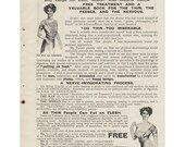 "1910 UK London Doctor's Medical Treatment ""Nerve Food"" Helps Thin People Gain Weight Quackery Tonic Vintage Advertising Print Ad Wall Decor"
