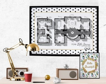Poster blair waldorf etsy for Gossip girl apartment floor plans