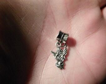 Angel Charm Fits European Style Bracelets Like Chamilia ,Biagi ,Caprice ,Hallmark, Pandora